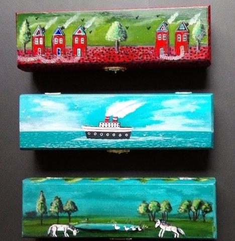 Boites peintes