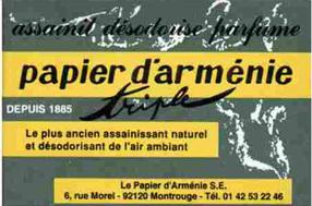 J'utilise régulièrement du Papier d'Arménie !