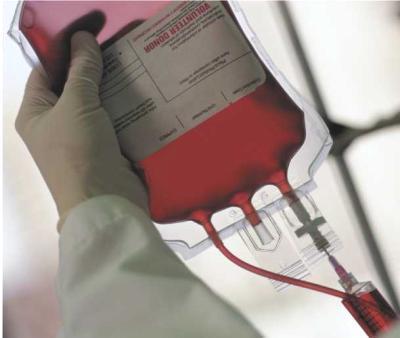 Je donne mon sang.