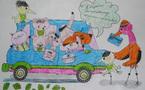 De très beaux coloriages 'écocitoyens gais' à mettre en couleur ! On adore !